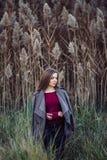 Giovane bella ragazza bionda caucasica della donna con capelli lunghi Fotografia Stock Libera da Diritti