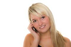 Giovane bella ragazza con lo smartphone Fotografie Stock