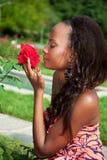 Giovane bella ragazza dell'afroamericano Fotografie Stock