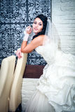 Giovane bella sposa Fotografie Stock Libere da Diritti