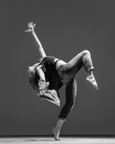 Giovane bello ballerino che posa nello studio Fotografia Stock Libera da Diritti