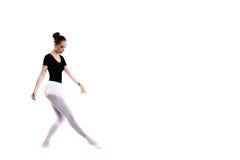 Giovane bello ballerino di balletto isolato sopra fondo bianco Fotografia Stock Libera da Diritti