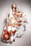 Giovane bello castana asiatico in vestito splendido Fotografia Stock Libera da Diritti
