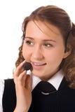 Giovane bello operatore della ragazza fotografie stock libere da diritti