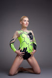 Giovane bello ritratto del danzatore del Gymnast Immagine Stock Libera da Diritti