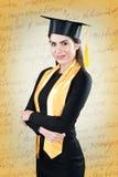 Giovane bello ritratto di graduazione dello studente Fotografia Stock Libera da Diritti