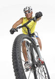 Giovane bici di montagna Fotografie Stock Libere da Diritti