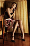 Giovane brunette fotografia stock