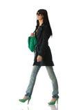Giovane brunette alla moda Immagini Stock