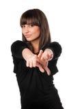 Giovane brunette allegro fotografia stock