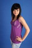 Giovane brunette grazioso Fotografie Stock
