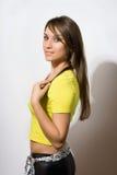Giovane brunette sexy Bewitching immagine stock libera da diritti