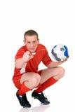 Giovane calciatore maschio fotografia stock