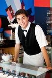 Giovane cameriere Immagini Stock Libere da Diritti