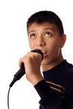 Giovane cantante Immagini Stock