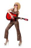 Giovane cantante con il taglio di afro Fotografie Stock