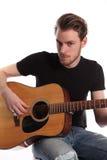 Giovane cantautore del cantante Fotografia Stock Libera da Diritti