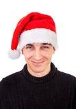 Giovane in cappello della Santa Fotografia Stock Libera da Diritti
