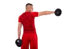 Giovane che fa allenamento della spalla Fotografia Stock