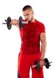 Giovane che fa allenamento della spalla Immagini Stock