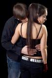 Giovane che flirta Immagine Stock
