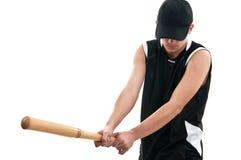 Giocar a baseballe del giovane Fotografie Stock Libere da Diritti