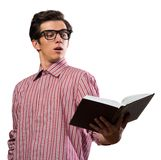 Giovane che legge un libro Fotografia Stock Libera da Diritti