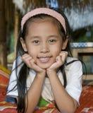 Giovane childl tailandese sorridente Fotografia Stock Libera da Diritti