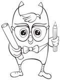 Giovane civetta scientifica divertente Immagine Stock