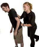 Giovane combattimento delle coppie Fotografie Stock Libere da Diritti