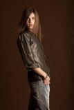 Giovane con capelli lunghi Fotografie Stock