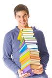 Giovane con i libri Immagine Stock