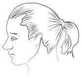 Giovane con il ponytail Fotografie Stock