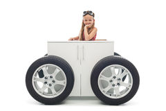 Giovane concetto dell'automobilista Fotografie Stock