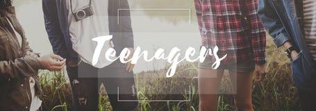 Giovane concetto di stile di vita della generazione della gioventù degli adolescenti Fotografia Stock Libera da Diritti