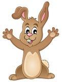 Giovane coniglietto felice Fotografie Stock Libere da Diritti