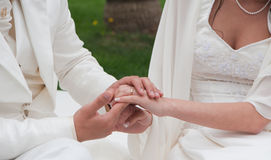Giovane coppia sposata Fotografia Stock
