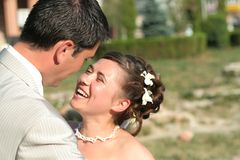Giovane coppia sposata Fotografie Stock