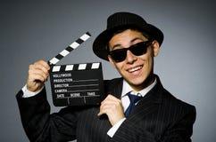 Giovane in costume e cappello a strisce classici Immagine Stock Libera da Diritti