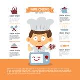 Giovane cuoco unico infographic Immagini Stock