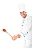Giovane cuoco unico isolato immagini stock libere da diritti