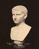 Giovane d'annata di Augusto della foto nel museo 1890 del Vaticano Immagine Stock