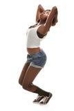 Giovane dancing africano hip-hop della donna Fotografia Stock Libera da Diritti