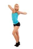 Giovane dancing biondo della donna Immagini Stock Libere da Diritti
