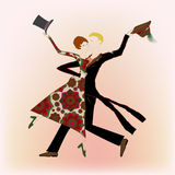 Giovane dancing delle coppie fotografia stock libera da diritti