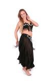 Giovane danzatore di pancia attraente fotografia stock