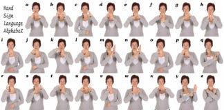 Giovane dimostrazione della mano della persona sorda di bellezza Fotografie Stock