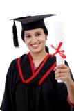 Giovane diploma felice della tenuta della studentessa Immagini Stock Libere da Diritti