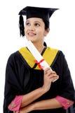Giovane diploma felice della tenuta della studentessa Fotografia Stock Libera da Diritti
