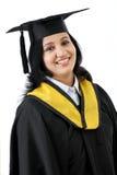 Giovane diploma felice della tenuta della studentessa Fotografia Stock
